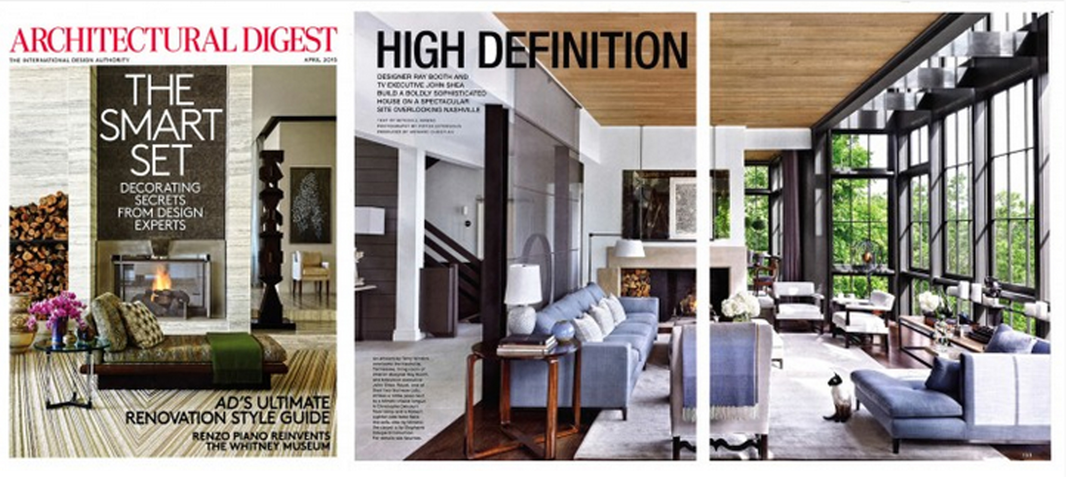 ARCHITECTURAL DIGEST APRIL 2015