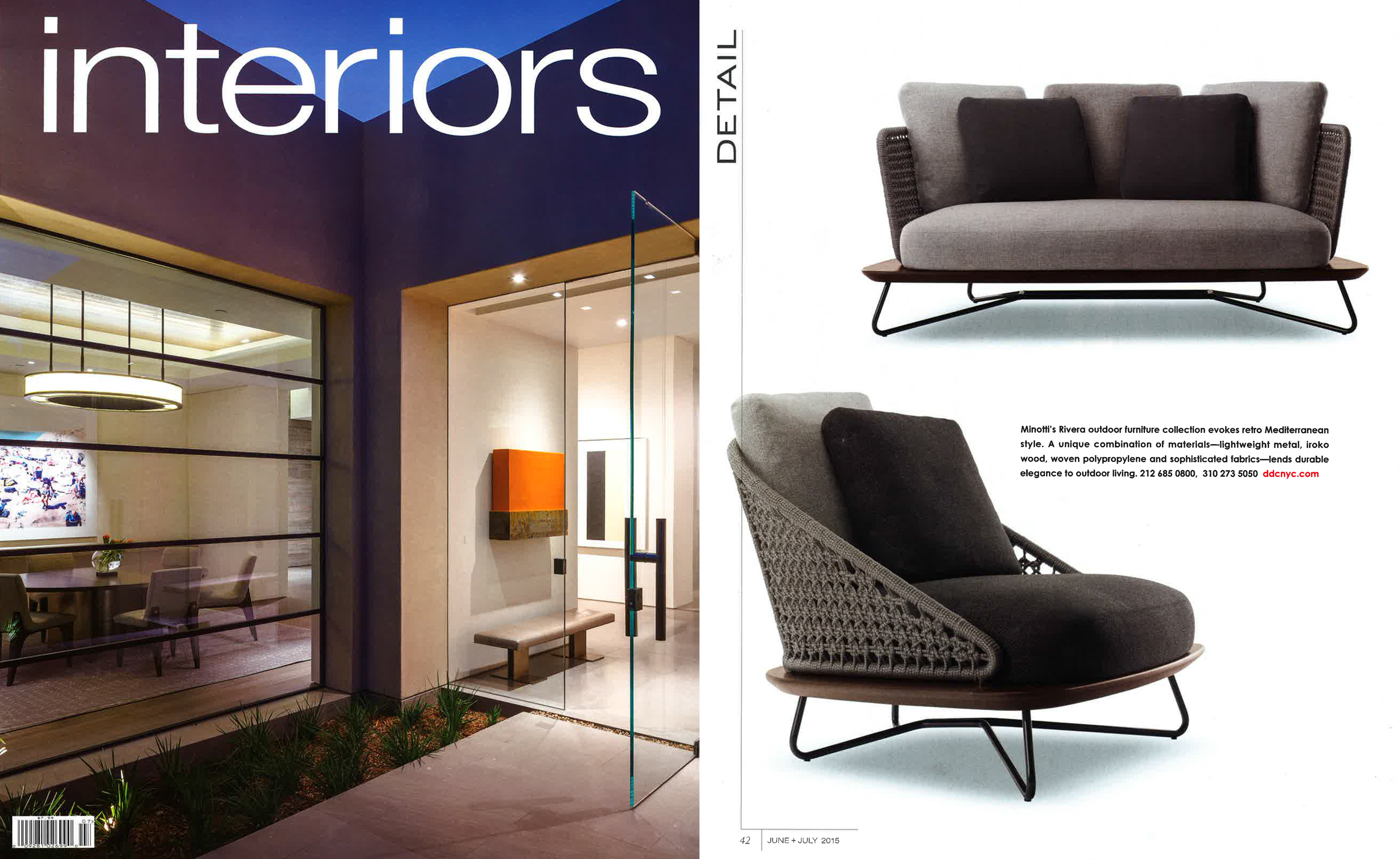 INTERIORS MAGAZINE JUNE – JULY 2015